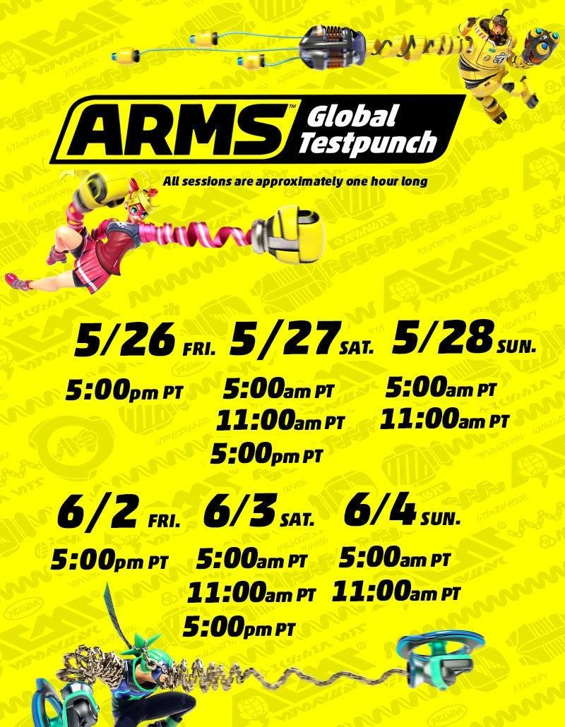Arms Global Test Punch Dates / Times – Seasoned Gaming